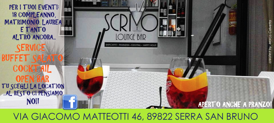 Scrivo lounge bar