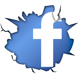 cracked fb logo