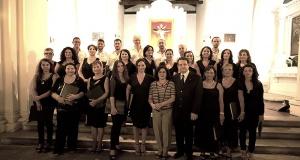 """Il coro """"Euterpe"""" a Serra San Bruno."""