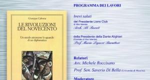 Presentazione del libro Le Rivoluzioni del Novecento dell'ambasciatore Dott. Giuseppe Calvetta.