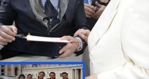 """""""Associazione Acque Minerali Academy"""" dal Papa con l'acqua di Umbriatico"""