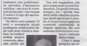 A proposito dell'articolo apparso sul Quotidiano, scritto da Bruno Vellone…