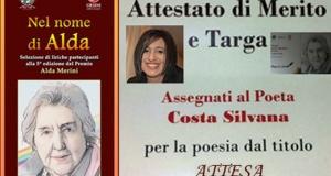 """A Silvana Costa il Premio """"Alda Merini"""" di Catanzaro."""