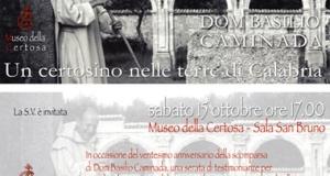 Serra: Sabato 15 ottobre una serata dedicata a Dom Basilio Caminada.