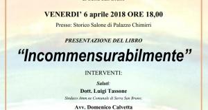 """Serra: la presentazione del libro di poesie """"Incommensurabilmente"""" di Nando Scarmozzino."""